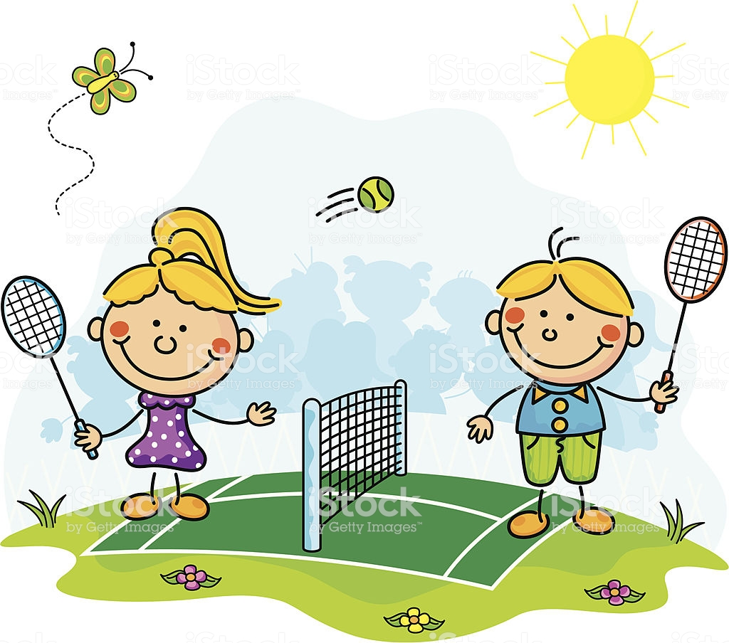 Tennis Kids Drawing.
